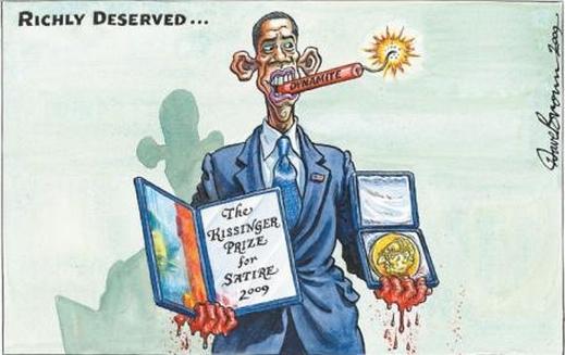 هكذا تنبأت بعد اعلان فوز أوباما بجائزة نوبل للسلام