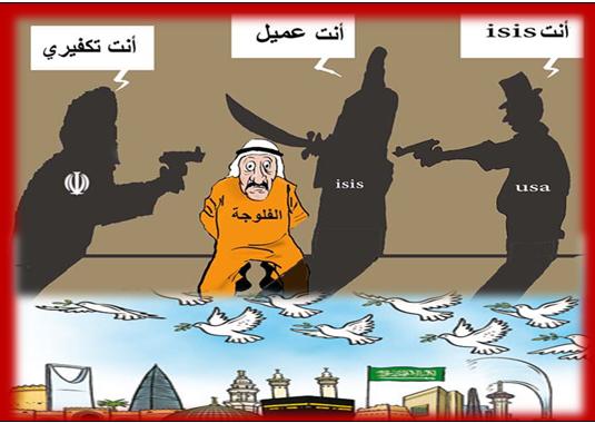 من يبتغي الدفاع عن الحرمين الشريفين فليكف عن الفلوجة أيدي إيران