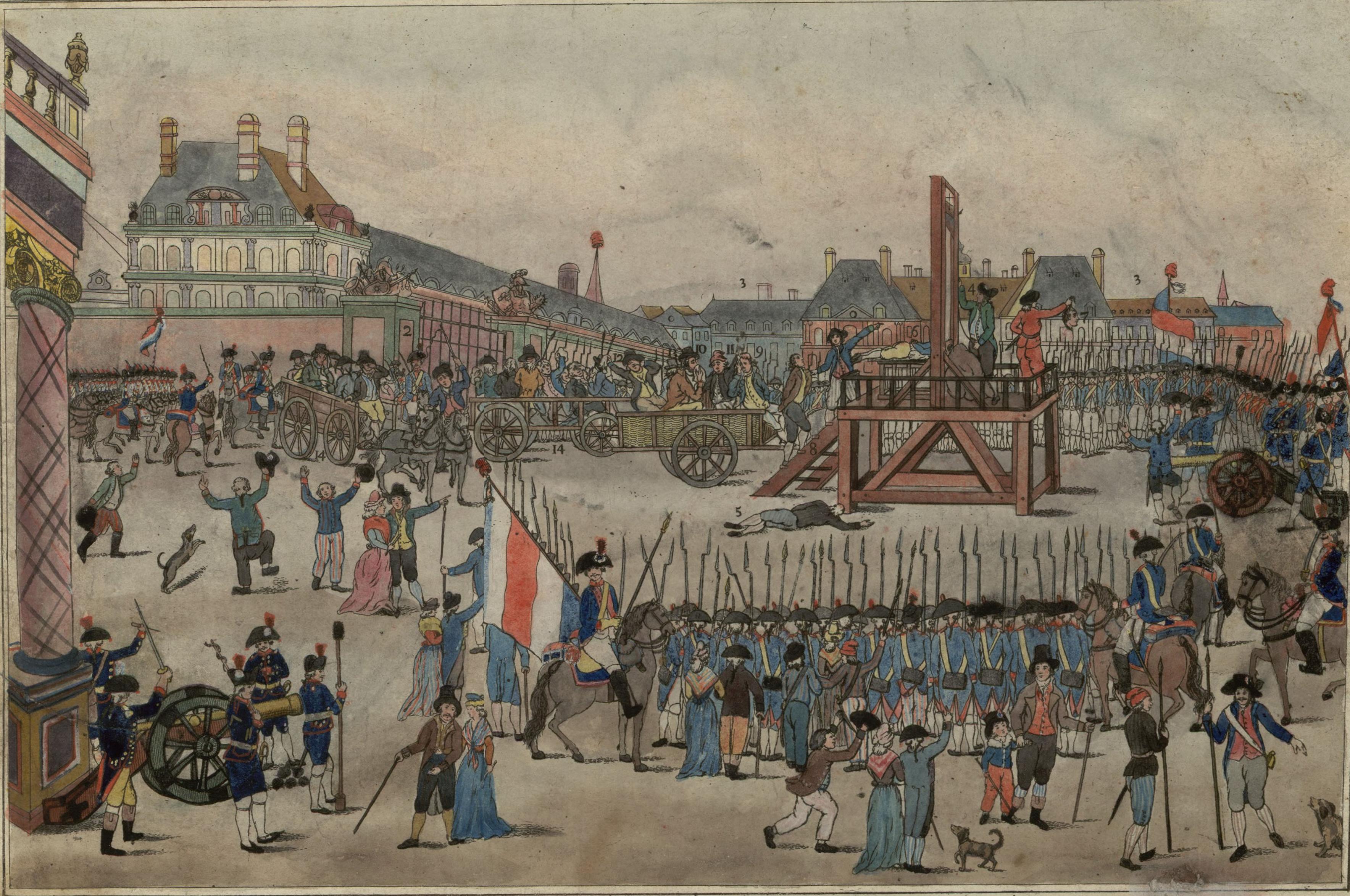 حين اعدمت فرنسا عشرة الاف من انقلابييها الخونة