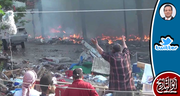 شرب الانقلابيون دم الشهداء في رابعة و لايزال الدم يلعنهم في كل ساعة