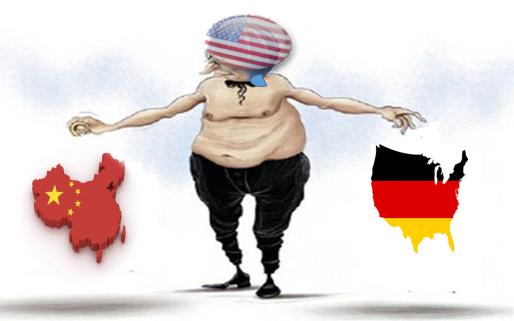كانت امريكا رسمت سياستها على محاربة الصين والمانيا