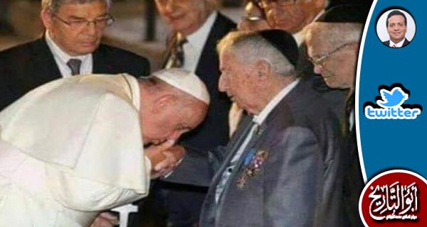 بابا الفاتيكان هل يقبل يد أنسي ساويرس لمجهود ابنه نجيب في محاربة الاسلام؟؟