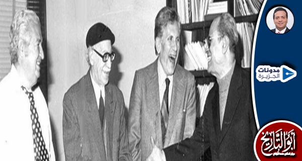 مواجهتان عابرتان بين توفيق الحكيم وبهاء الدين وهيكل